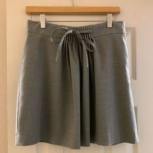 Gap Grey Pleated Skirt w/Tie, 6